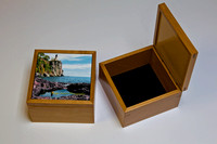 Wood velvet lined box 5 by 5, 3 deep $26.95